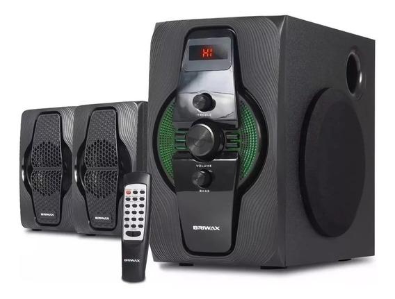 Home Theater 2.1 Sistema Caixa Som Bluetooth Mp3 Fm 50w Rms