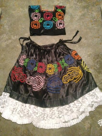 Vestido Regional De Tehuana Para Niña