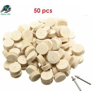 50pcs Almohadillas Lana De Fieltro / Pulido Mototools 13mm