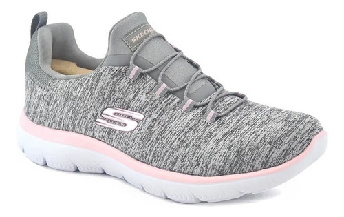Zapatillas Skechers Running Mujer Summitwuick Gris-rosa Cli