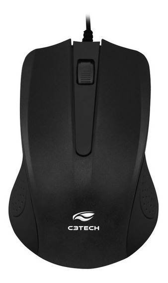 Mouse Usb Óptico Ms-20bk C3 Tech 1000 Dpi Preto