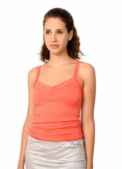 Musculosa Morley Elastizado, Espalda Encaje, Brishka L-0002