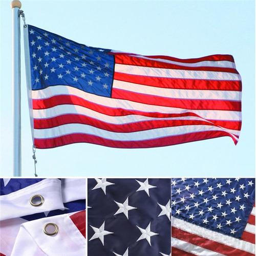 Bandeira Estados Unidos Usa Bordada 150x90cm Sem Frete