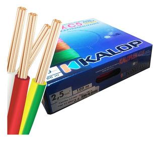 Pack X 3 Cable Unipolar Kalop Normalizado 2.5mm Cat.5 Cuotas
