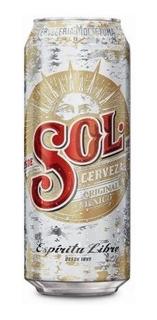 Cerveza Lata Sol X 473 Ml.