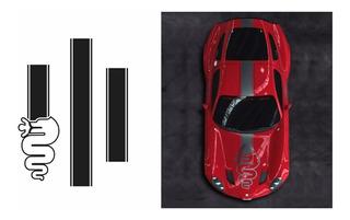 Adesivo Alfa Romeo Faixa Capo Teto Mala Ct01