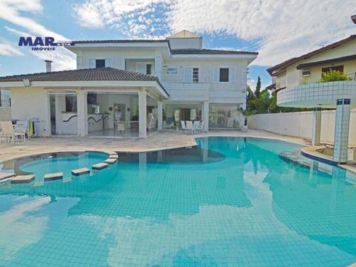 Casa Com 5 Dormitórios Para Alugar, 470 M² Por R$ 14.999,98 - Acapulco - Guarujá/sp - Ca0676