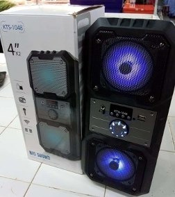 Caixa De Som Amplificada Bluetooth Kts1048 Usb/rádio/fm