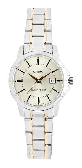 Relógio Feminino Casio Ltp V004sg 9audf - Prata