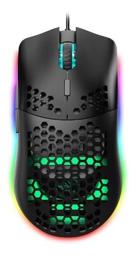 Imagen 1 de 5 de Mouse de juego HXSJ  J900 negro