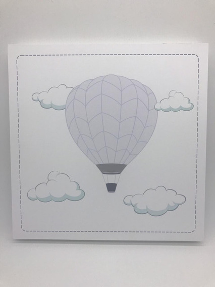 Quadro Moderninho Balão Fundo Branco - Divino Talento 7273