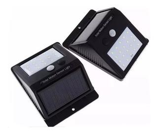 Kit 10 Luminária Led Arandela Solar 20 Led C/ Sensor De Pres