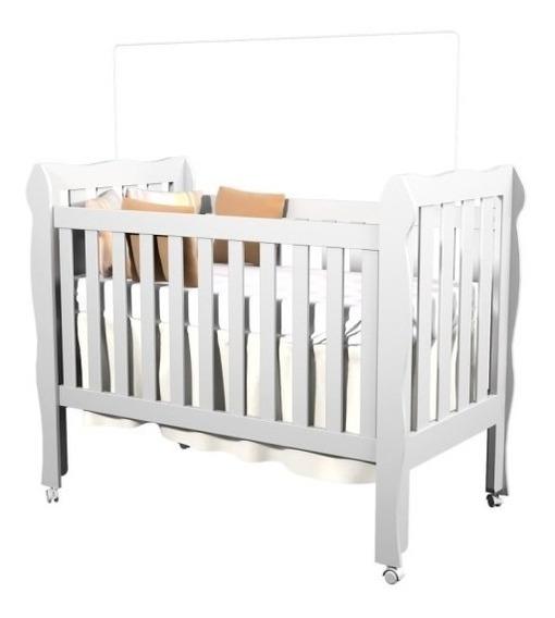 Berço Americano Bebê Mini Cama Lila 3x1 Branco Carolina Baby
