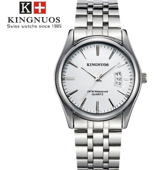 Relógio Masculino Kingnuos 1853 Aço Inox