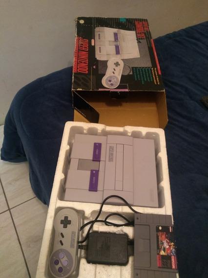 Vídeo Game Super Nintendo Na Caixa Completo Original