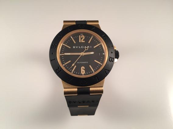 Reloj Bvlgari Diagono 38 Mm Automático De Oro Amarillo 18 Kt