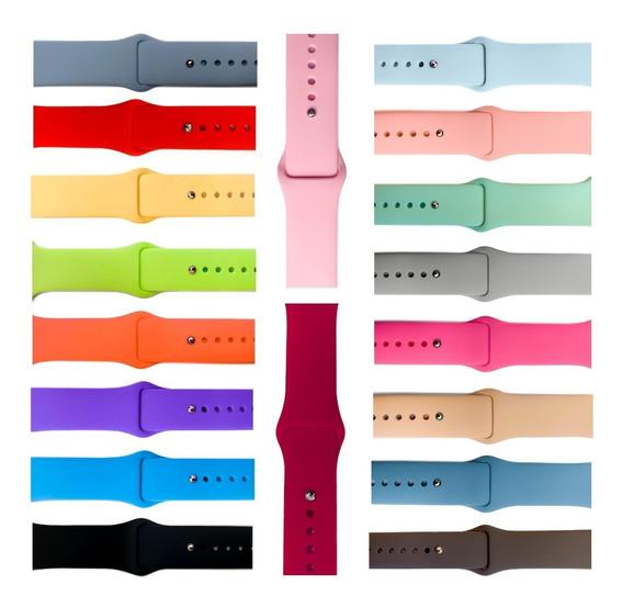 Extensible Silicón Correa Lisa Para Apple Watch Serie 1 2 3 4