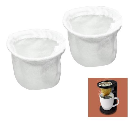2 Refil De Pano Para Coador Passador De Café Cafézinho Ou