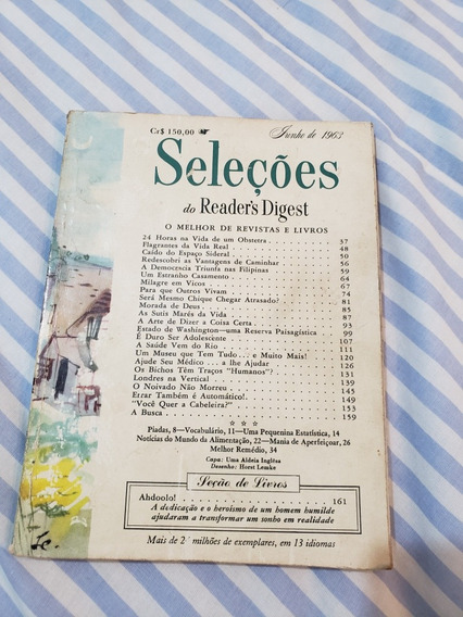 Revista Seleção Junho De 1963
