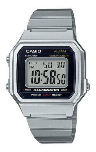 Relógio Casio B650 Prata Aço Masculino Feminino Promoção Top