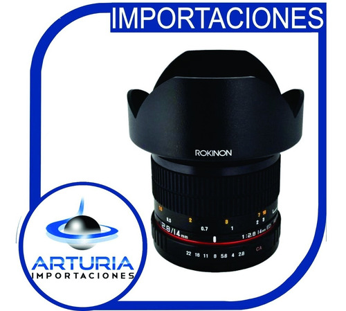 Rokinon 14mm Lente Gran Angular F/2.8 If Para Canon