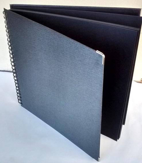 Álbum Scrapbook Grande 33x32 Preto Para Casamento E Viagem