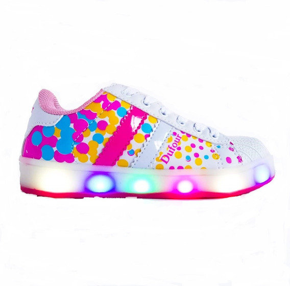 Zapatillas Con Luces Led Para Niñas Multicolor Dufour