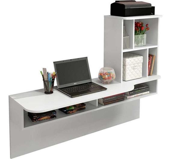 Escrivaninha Suspensa Lilac - Branco - Colibri