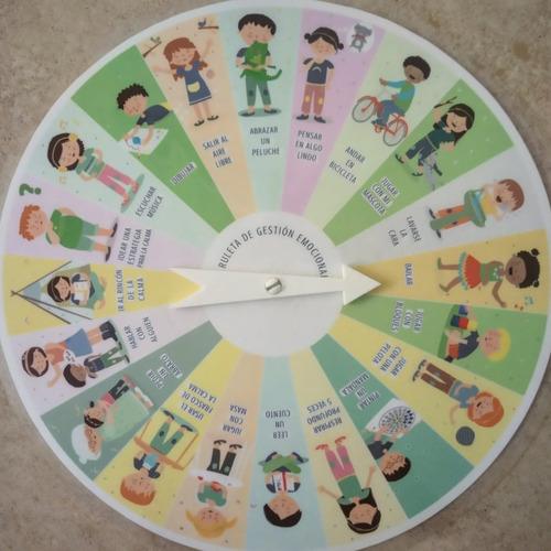 Imagen 1 de 2 de Ruleta De Gestión Emocional - Psicología Infantil Y Familias