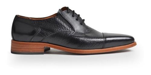 Zapatos De Vestir De Hombre Cuero  Negro Homero - Ferraro -