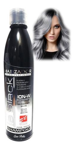 Imagen 1 de 8 de Shampoo Matizador Negro Para Cabellos Platinados 250 Ml