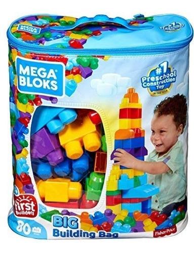 Mega Blocks Lego 80 Pzas. Primer Jueguete De Tu Bebe