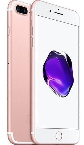iPhone 7 Plus 32gb Ouro Rosa Tela 5.5  Ios 10 4g Câm 12mp