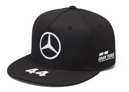 Gorra Lewis Hamilton Mercedes Amg Petronas Negra Plana F1