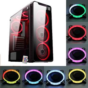 Gabinete Infinity 3 Controle + 6 Cooler Rgb Ritimicos C/nfe