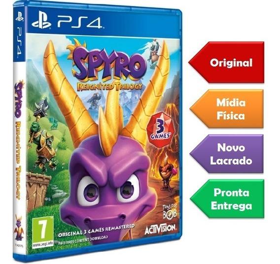 Spyro Trilogy Ps4 Mídia Física Novo Lacrado Pronta Entrega