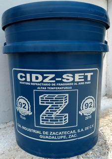 Mortero Refractario 1600° Cubeta 33 K Adhesivo D Ladrillos