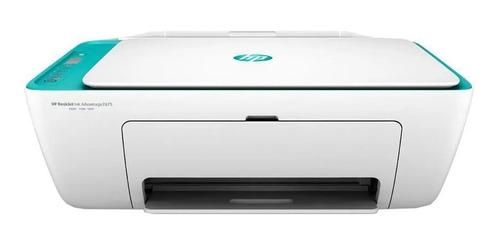 Imagen 1 de 4 de Impresora a color multifunción HP Deskjet Ink Advantage 2675 con wifi blanca y azul 100V/240V