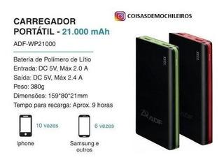 Bateria Externa Carregador Portatil Power Bank Adf 21000mah