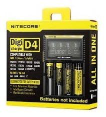 Cargador Baterías Int. Nitecore D4 18650 18350 14500 Aa Aaa