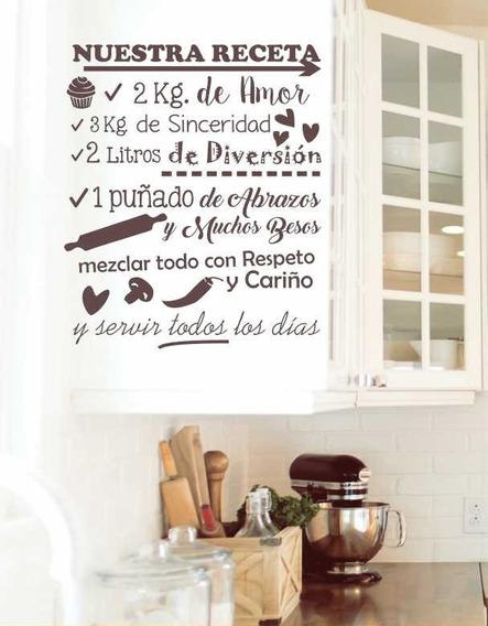 Vinilo Decorativo Frases Para Cocina Comedor Nuestra Receta