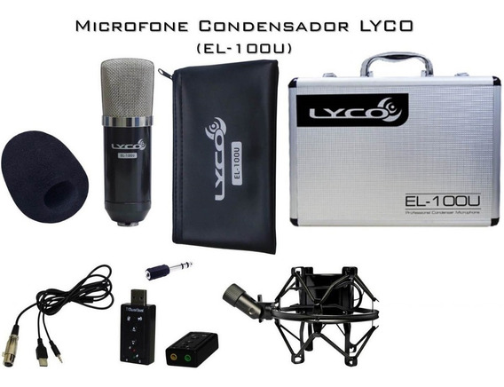 Microfone Condensador Lyco El-100u Híbrido (xlr/xlr-xlr/usb)