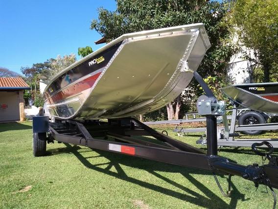 Barco De Alumínio Semi Chata De 5 Metros Pesca