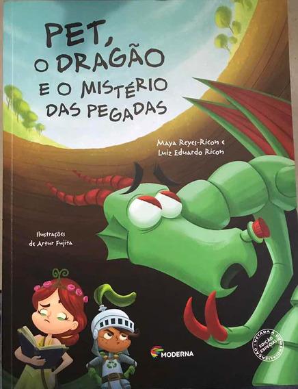 Livro Pet, O Dragão E O Mistério Das Pegadas