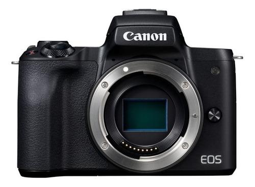 Imagen 1 de 7 de Canon EOS M Kit M50 + lente 15-45mm IS STM + lente 55-200mm IS STM sin espejo color  negro