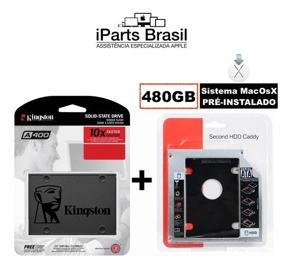 Hd Ssd Macbook Kingston 480 Gb Adaptador Caddy Sistema Apple