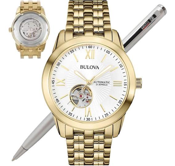 Relógio Bulova Masculino Automático Wb32004h 97a130 - C/ Nfe
