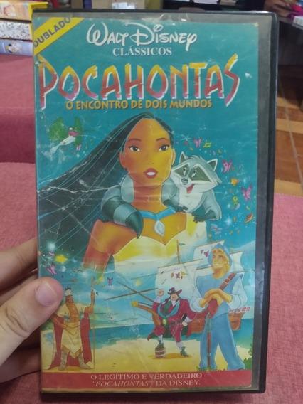 Fita Vhs Pocahontas O Encontro De Dois Mundos Funcionando
