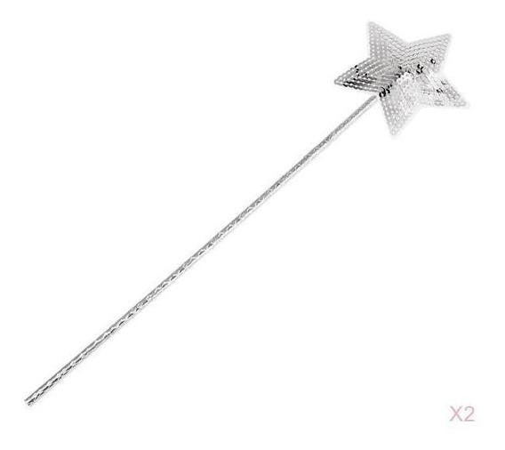 Plástico Cequim Estrela Forma Fada Wand Princesa Magia Vara
