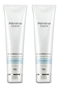 Kit Gel De Limpeza Facial Renew Clean 150g